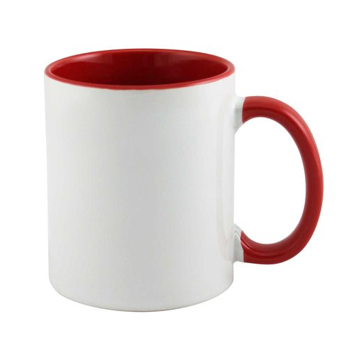 Personalized Mugs Inside And Handle Red Colour
