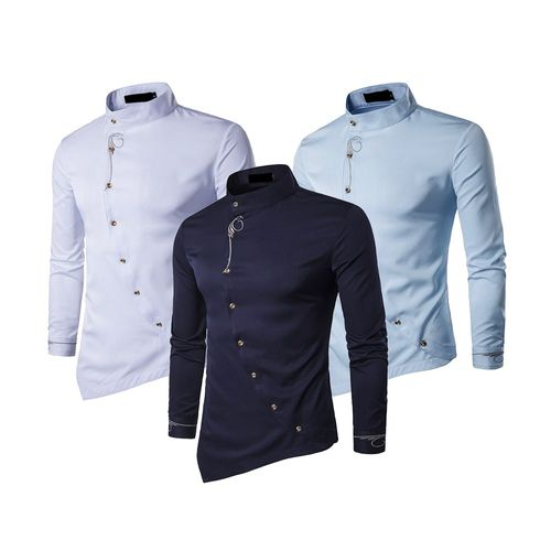 6e73fbaf Combo of 3 New Fashionable Casual Mandarin Men's Shirts