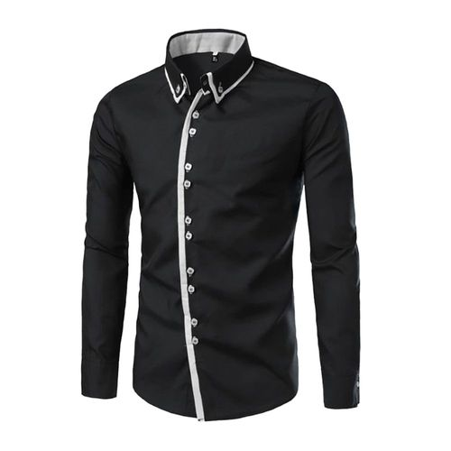 ff25ac99a03 Combo of 2 New Fashion High Quality Long Sleeve Solid Color Slim Fit Casual  Shirts