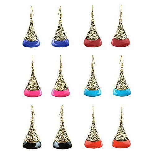 YouBella Fashion Jewellery Multi-Color Stylish  earrings for girls fancy party wear Stud Earrings for Women
