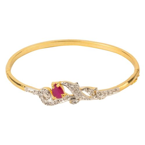 YouBella American Diamond Gold Plated Bracelet For Women