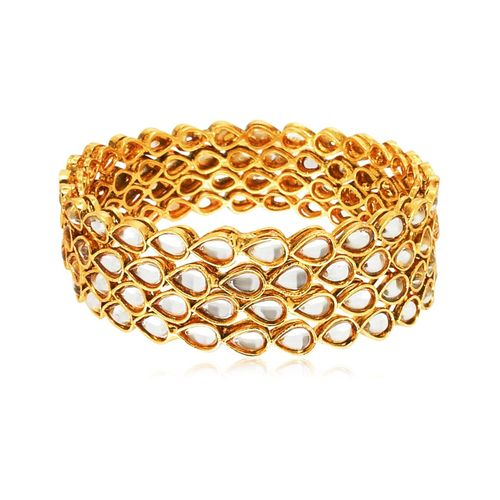 YouBella Gold Plated Kundan Bangles For Women