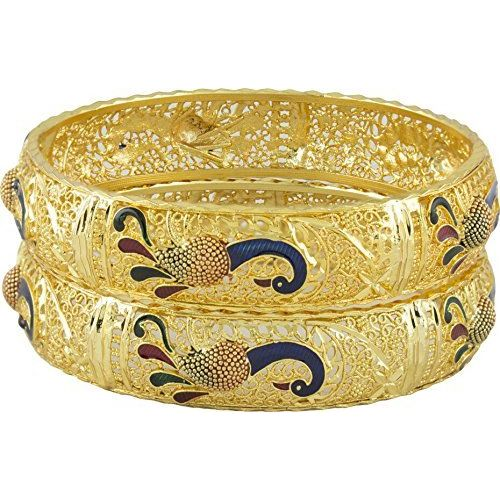 YouBella Traditional Jewellery Gold Plated Bangles for Women and Girls