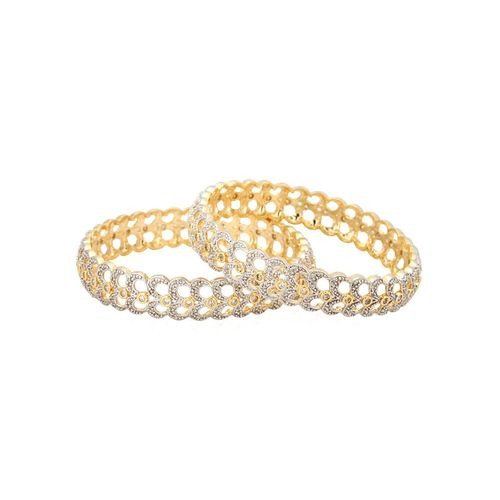 YouBella American Diamond Gold Plated Bangles For Women