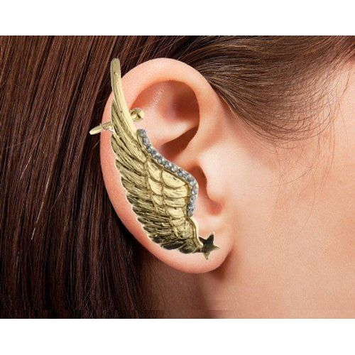 YouBella Trendy Gold Plated Eagle Wing Earcuff