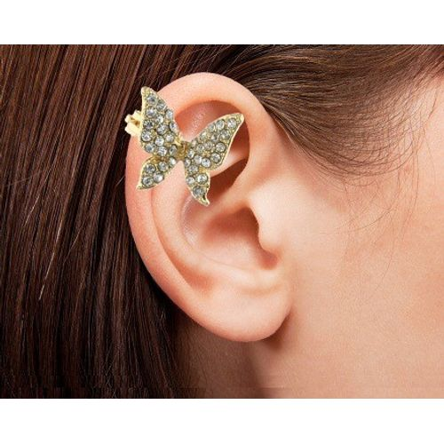 YouBella Trendy Gold Plated Butterfly Earcuff