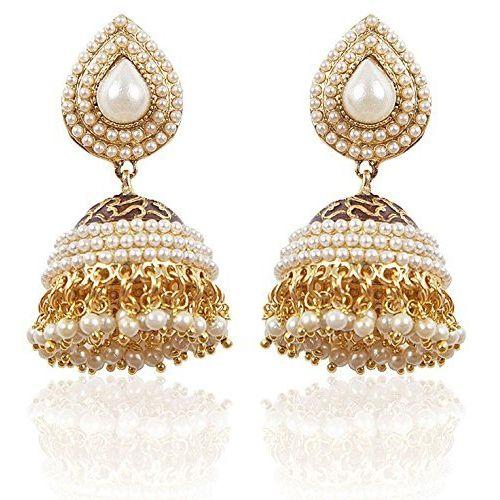 Youbella Copper Jhumki Earrings For Women & Girls