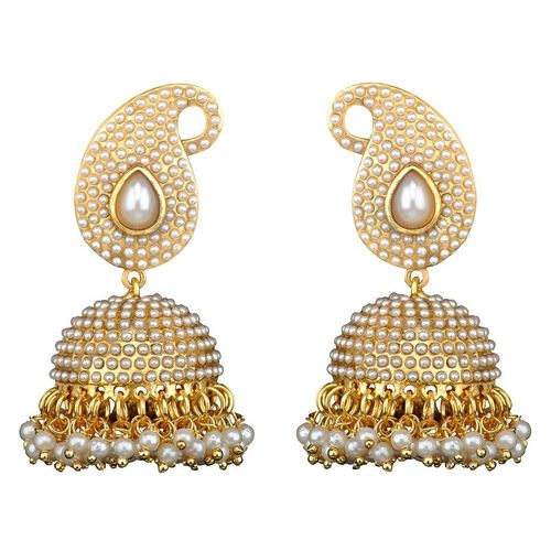 Youbella Pearl White Dangle & Drop Earring For Women/Girls