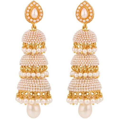 Youbella Golden Pearl Jhumka/Jhumki Earrings For Girls And Women