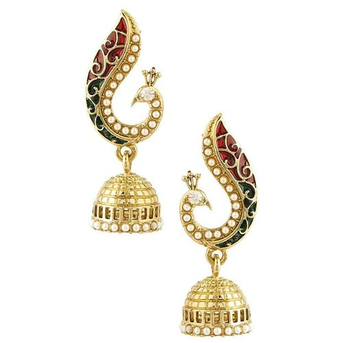 Youbella Gold Plated Pearl Jhumka / Jhumki Earrings For Girls And Women