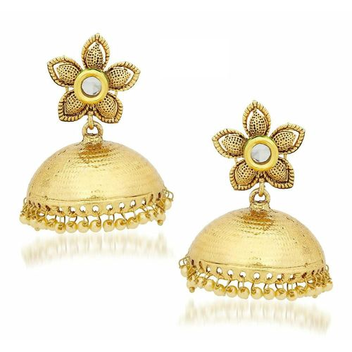 YouBella Traditional Gold Plated Jewellery Jhumka / Jhumki Fancy Earrings for Girls and Women