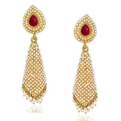 YouBella Jewellery Pearl Studded Fancy Party Wear Jhumki Jhumka Earrings for Girls and Women