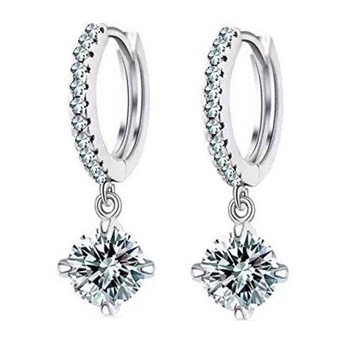 YouBella Jewellery Clear CZ Fancy Party Wear Earrings for Girls and Women