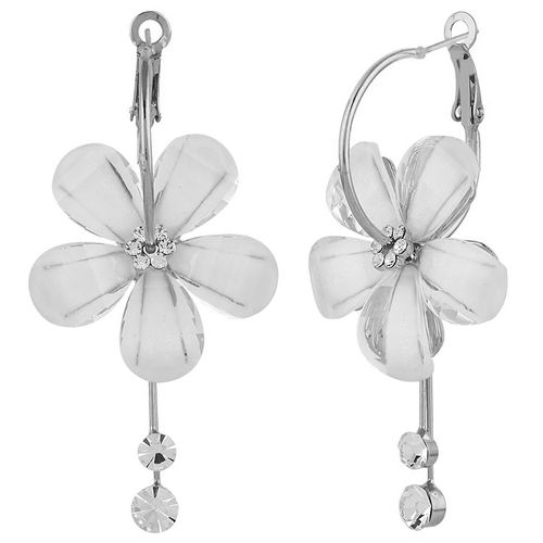 Eternal Floral Patterned Silver Plated Earring