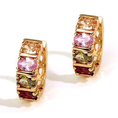 Imposing Chequered  Swiss Zircon Earrings