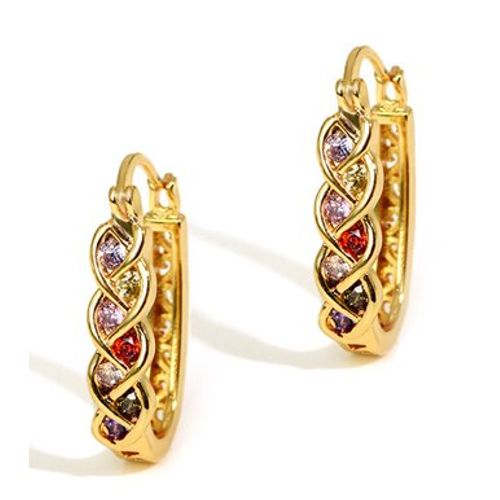 Luminous Motley Swiss Zircon Earrings