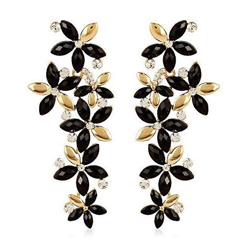Top-Notch Austrian Zircon Golden-Black Earring
