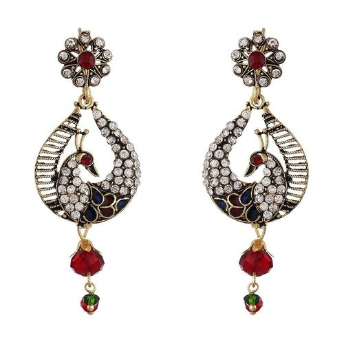 YouBella Designer Traditional Pearl Earrings for Girls and Women
