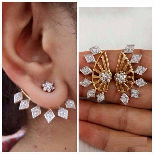 YouBella Gold Plated American Diamond Earcuff for Women