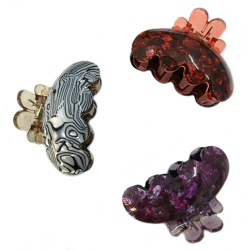YouBella Jewellery Designer Combo of Three Hair Clutchers for Girls and Women