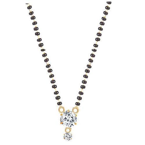 YouBella American Diamond Mangalsutra Jewellery For Girls And Women
