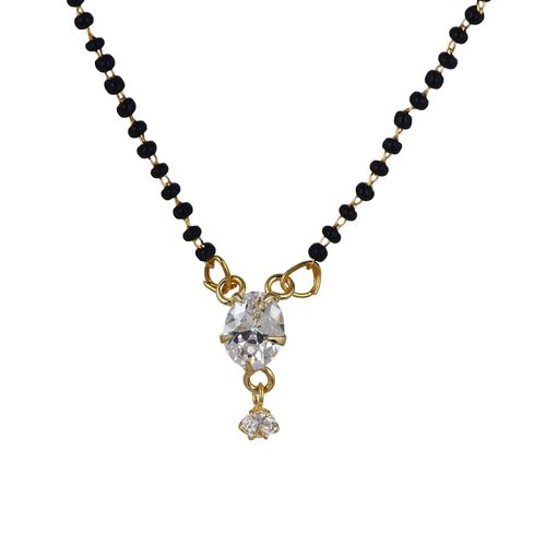 Youbella Gold-Plated Mangalsutra Pendant With Chain For Women