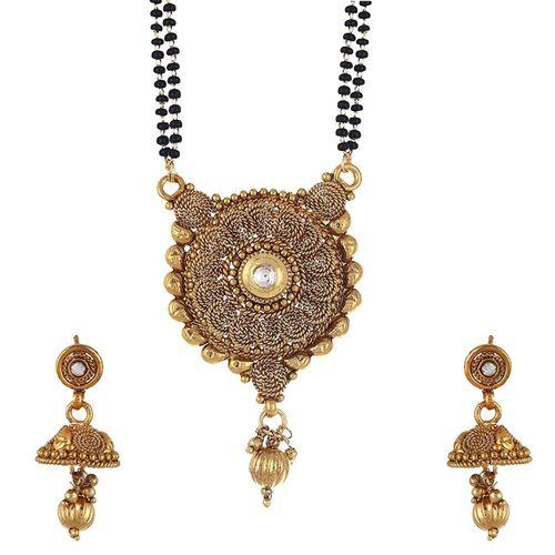 Burnish Antique Kundan Embellished Mangalsutra