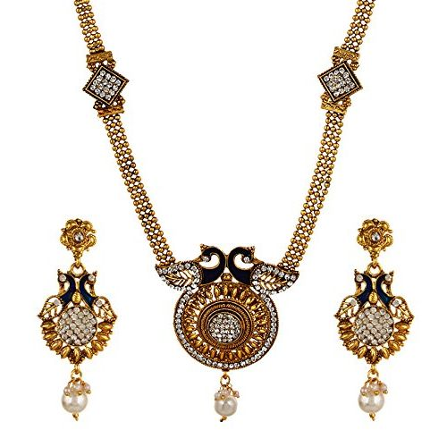 Youbella Gold-Plated Necklace With Earring Set For Women/Girls