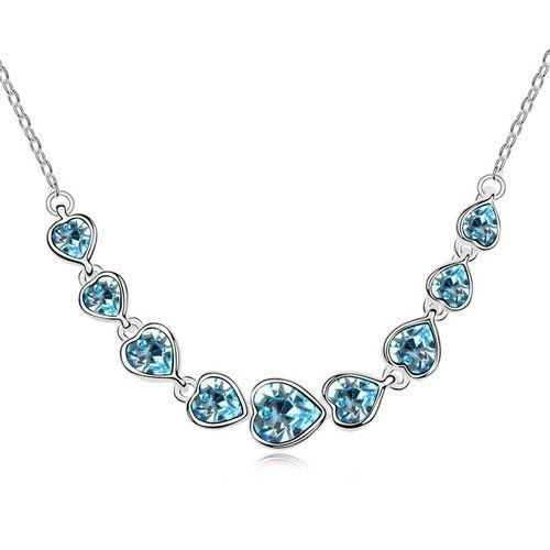Bewitching Interlaced Cerulean Crystal Necklace