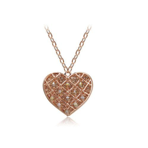YouBella Gracias Collection Designer Heart Pendant / Necklace for Women and Girls