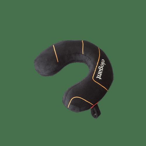 ELEGANT Memory foam travel pillow black  1pcs