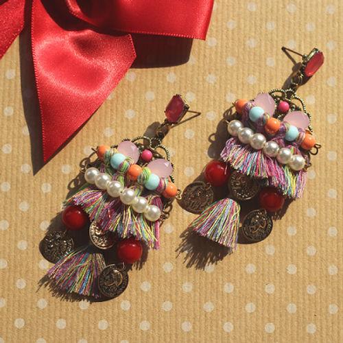 Thread party earrings