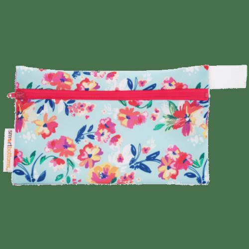 Mini Wet Bag - Aqua Floral