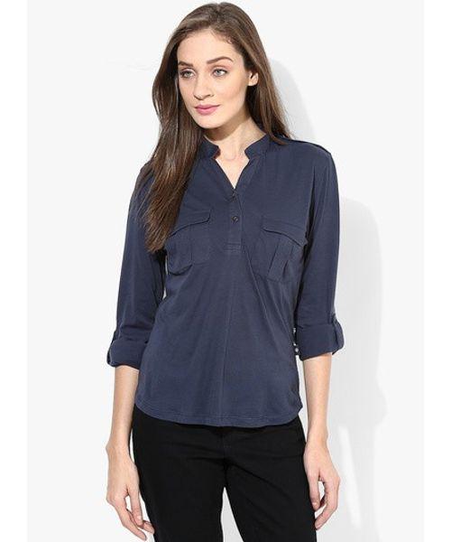 VN SHIRT TOP - Dress Blue