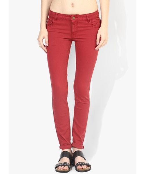 TWILL-TROUSER - D.red