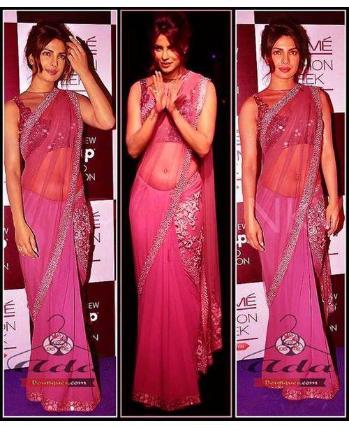PC Pink Saree