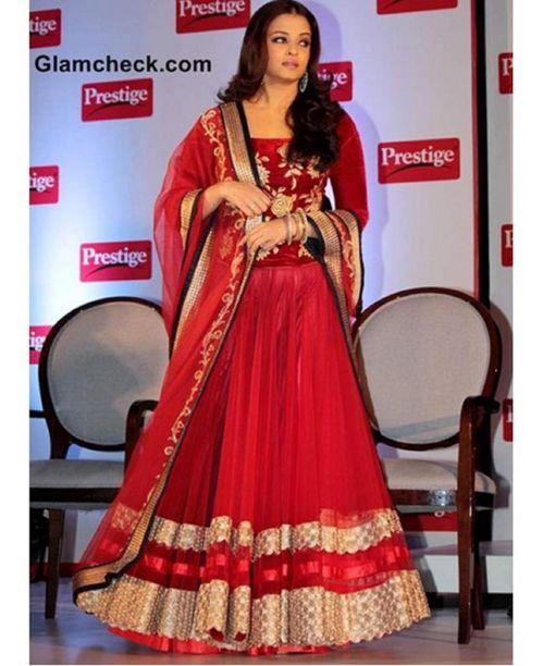 Aishwarya  Red Lehenga