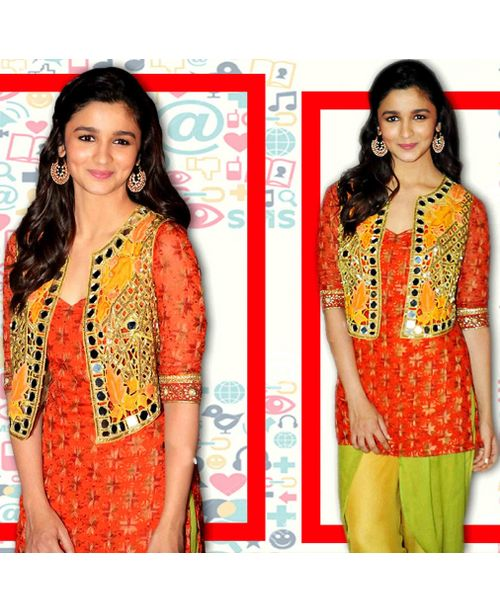 Alia Stylish Phulkari Dress