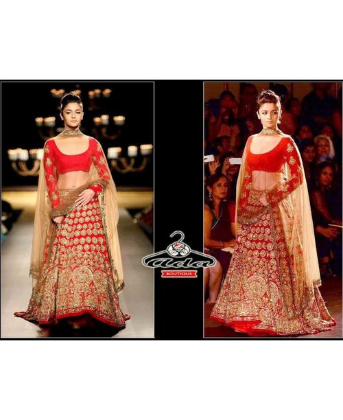 Ravishing Alia Bhatt Red Lehenga