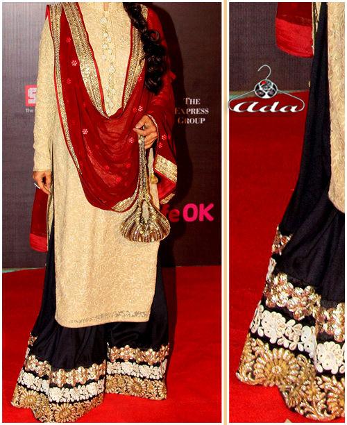 Ethnic Beige/Black/Maroon Dress