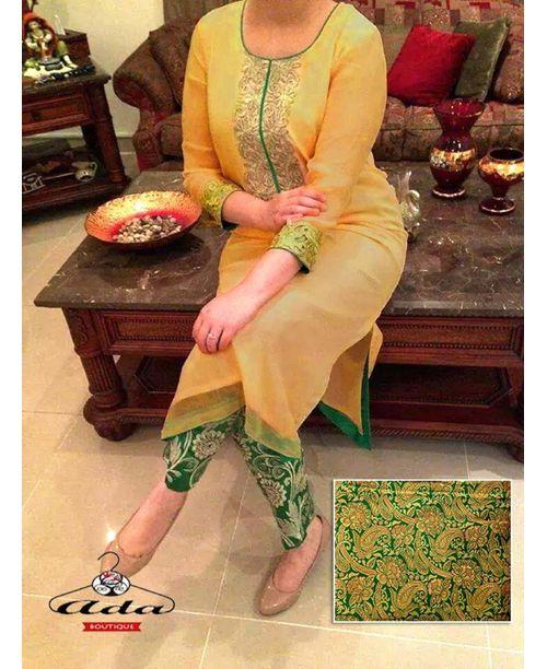 Stylish Green/Beige Dress