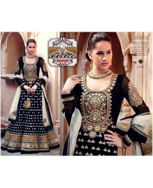 Glamourous Black Anarkali Gown