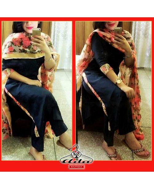 Trendy Black Floral Dress