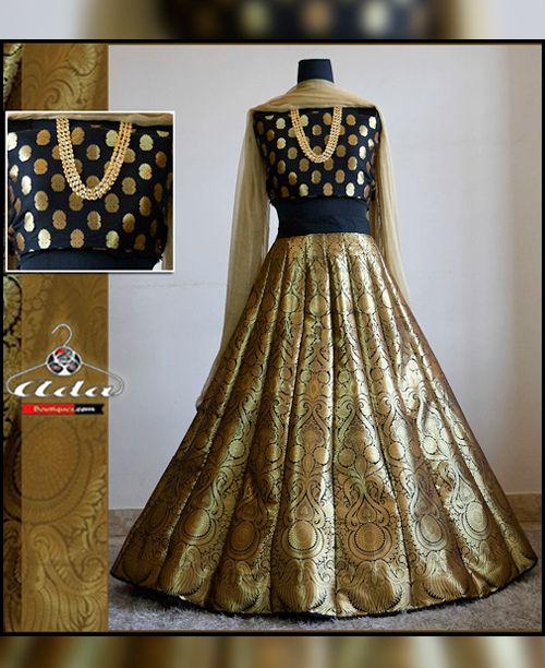 Classy Black/Gold Skirt Dress