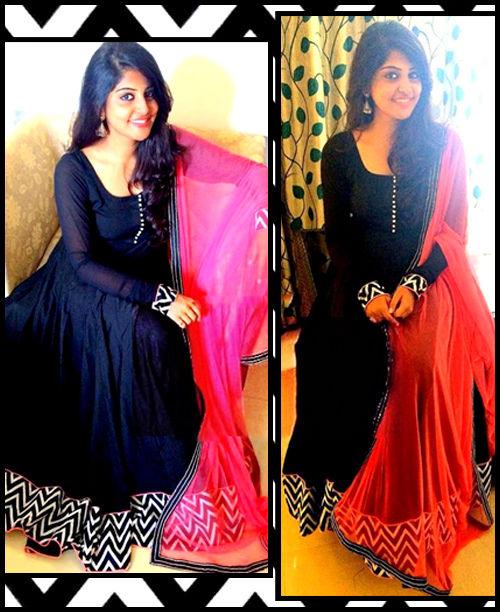 Black/Pink Stylish Dress