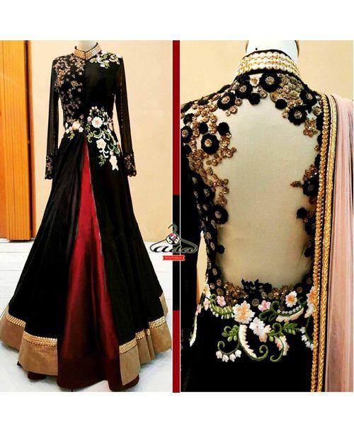 Stylish Gown Lehenga Dress