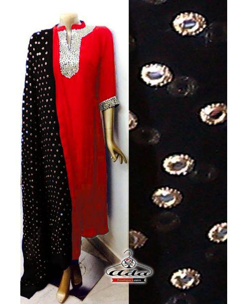 Sizzling Black/Orange Dress