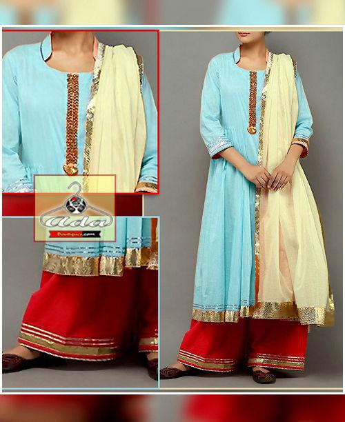 Stylish Red/Blue Dress