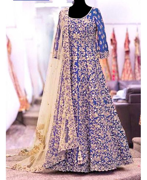 Ethnic Royal Blue Gown Dress