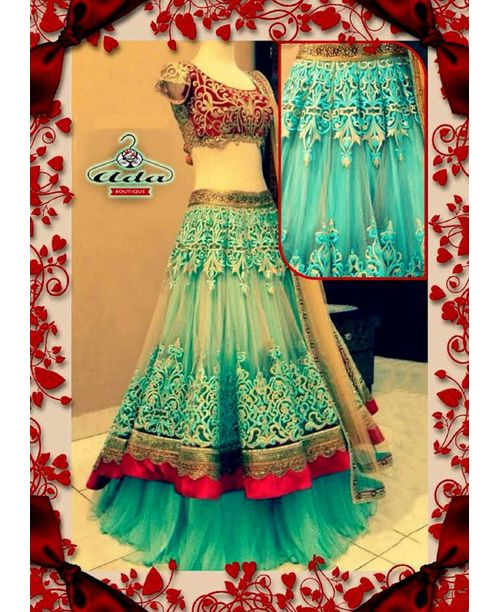 Stylish Light Blue Lehenga